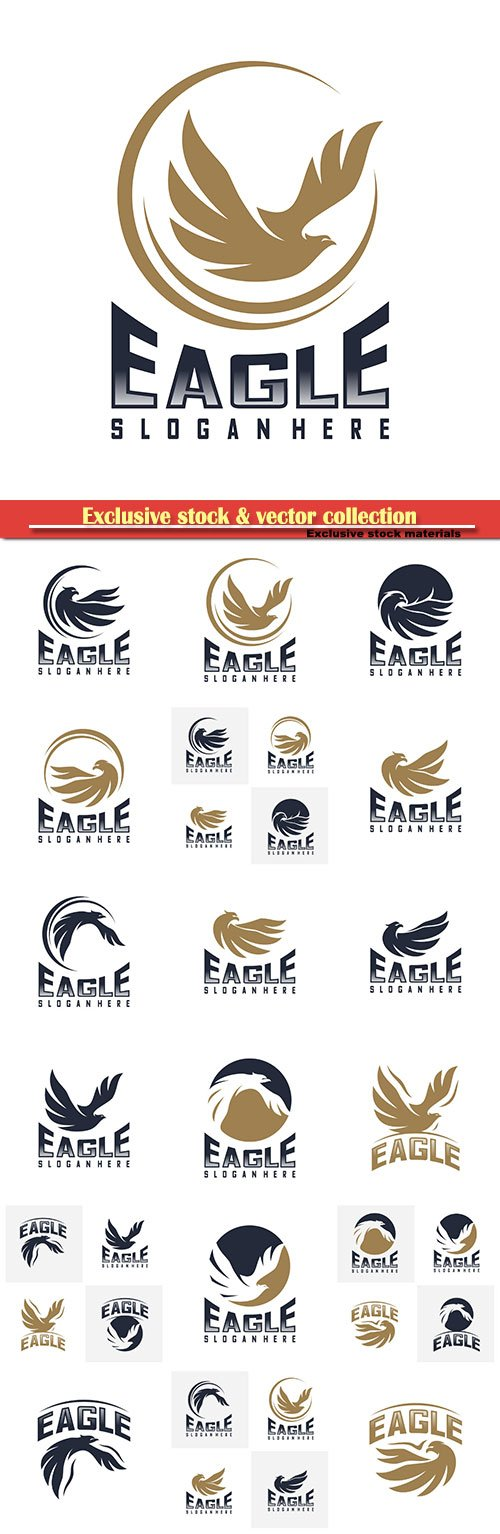 Eagle logo design vector,  icon symbol
