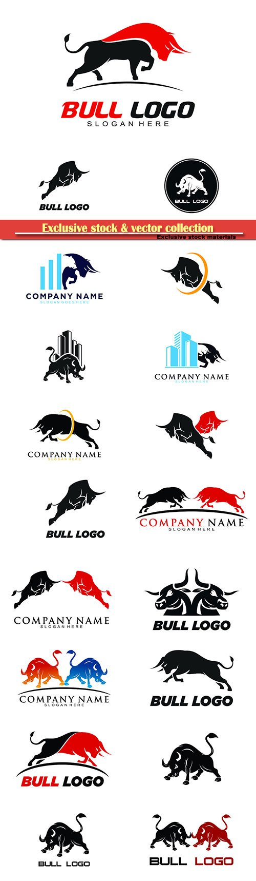 Bull logo vector icon illustration
