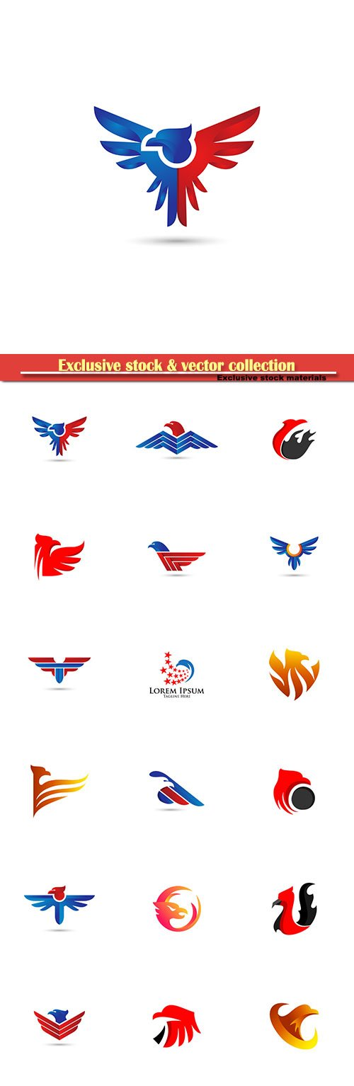 Eagle vector logo illustration