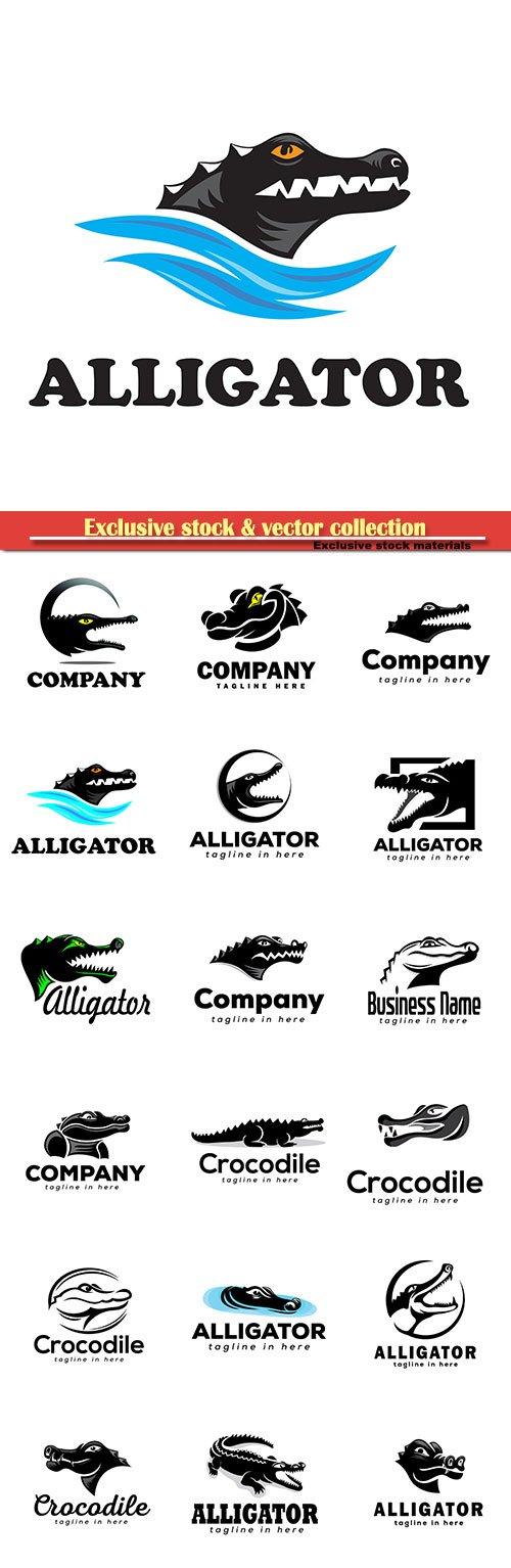 Alligator logo vector illustration