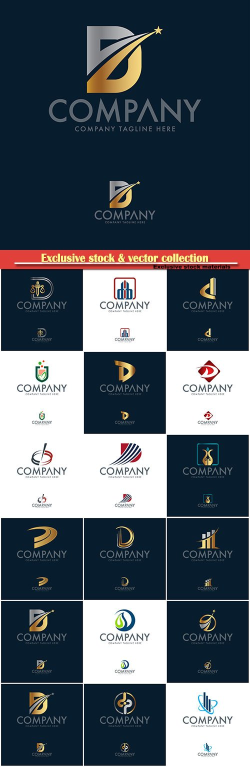 Logo vector template business set, company tagline here # 4