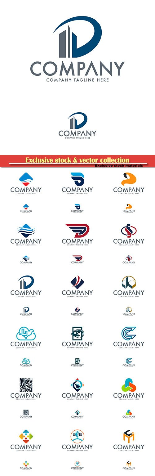 Logo vector template business set, company tagline here # 3