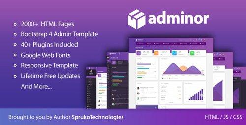 ThemeForest - Adminor v1.0 - Clean & Modern Responsive Bootstrap4 Admin Dashboard HTML5 Template - 22853174