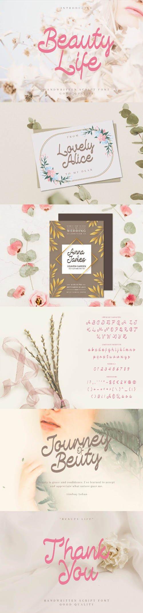 Beauty Life - Romantic Handwritten Script