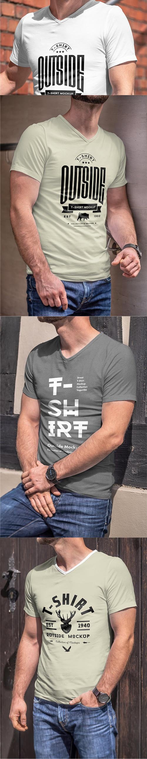 T-Shirt Mock-up 5 PSD