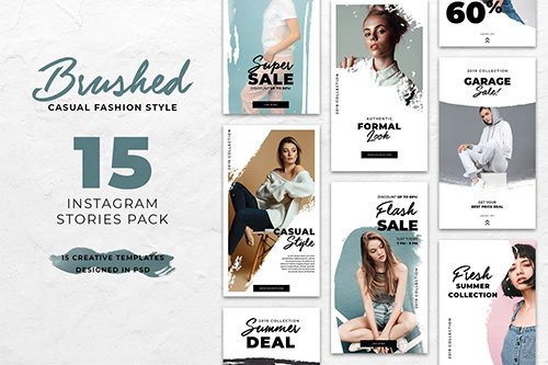 Fashion Brush Instagram Stories PSD