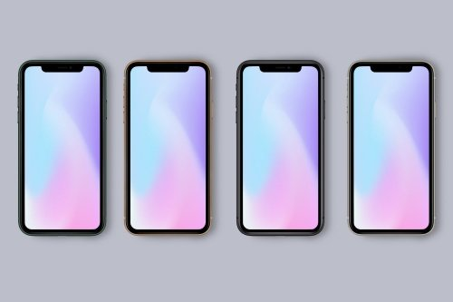 New iPhone 11 Pro Mockup - All Colors PSD