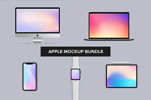 Apple Mockup Bundle - iPhone, iMac, Watch, iPad