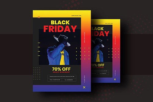 Black Friday Product Promotional Flyer V-8