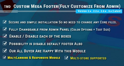 Mega Footer 3.x & 2.x.x - OpenCart Extension