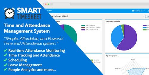 CodeCanyon - Smart Timesheet v3.7 - Time and Attendance Management System - 23076255