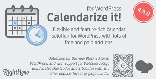 CodeCanyon - Calendarize it! for WordPress v4.9.0.92833 - 2568439 - NULLED
