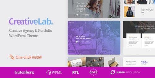 ThemeForest - Creative Lab v1.1.1 - Studio Portfolio & Design Agency WordPress Theme - 19688367