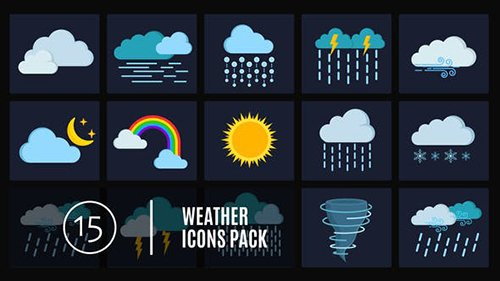 15 Weather Icons Pack 24656832