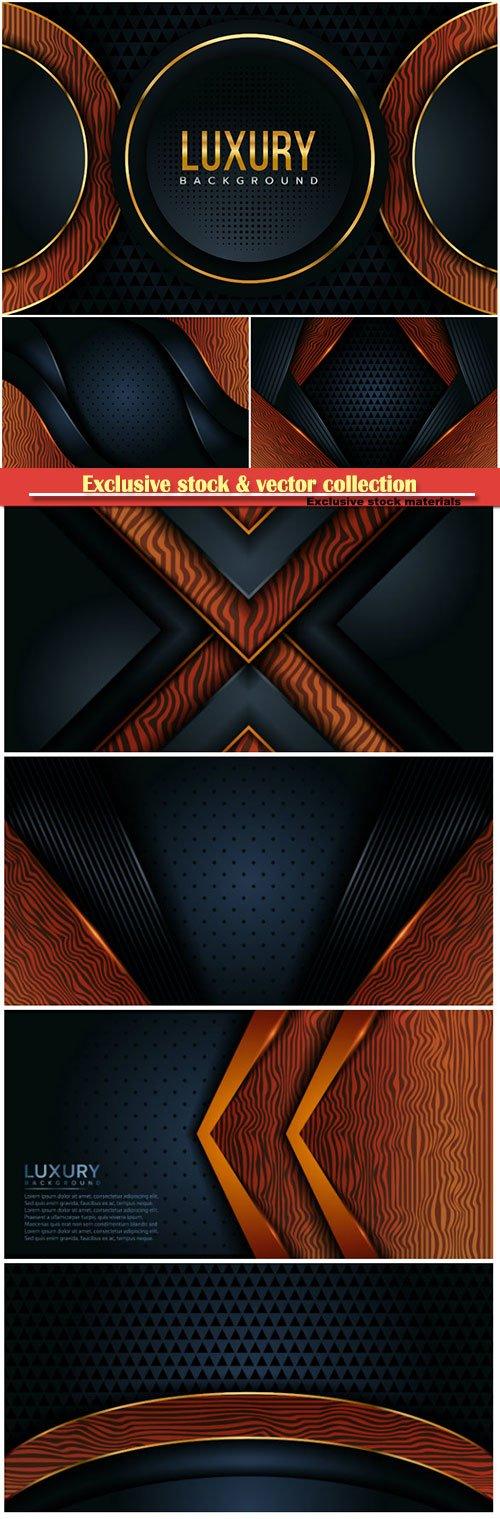 Dark black wood abstract background design