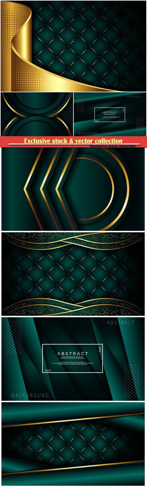Luxury dark green background with overlap layer