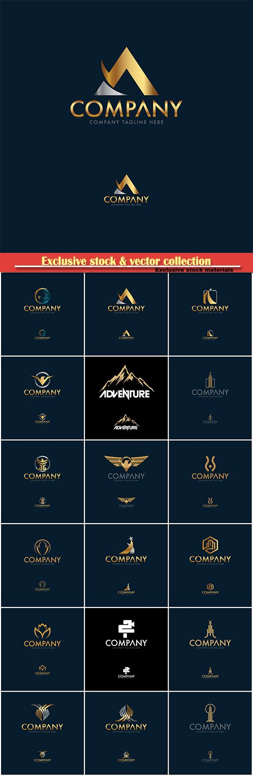 Logo vector template business set # 29