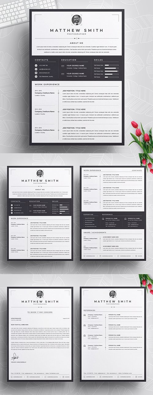 Resume Layout with Black Border 290395941 AIT