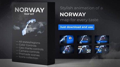 Norway Map Kingdom of Norway Map Kit 24702561