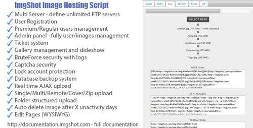 CodeCanyon - ImgShot Image Hosting Script v1.2 - 2558257