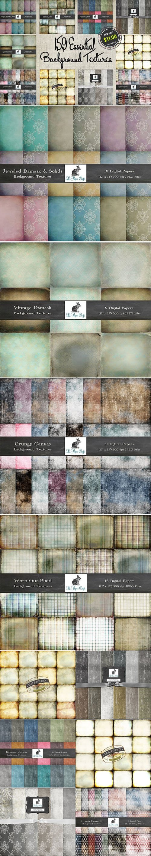 InkyDeals - 159 Essential Background Textures