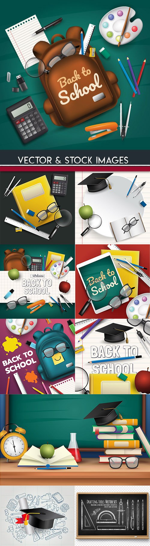 Back to school and accessories collection illustration 31