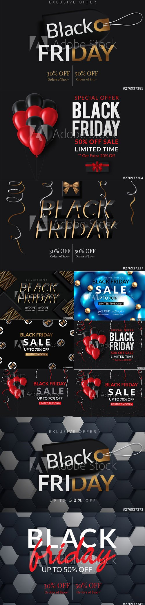 Black Friday Sale Poster Banner Illustration vol2