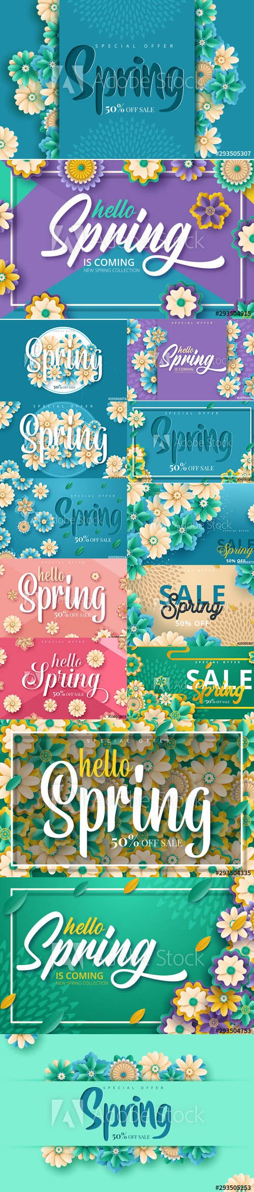 Sale Backgrounds with Flowers