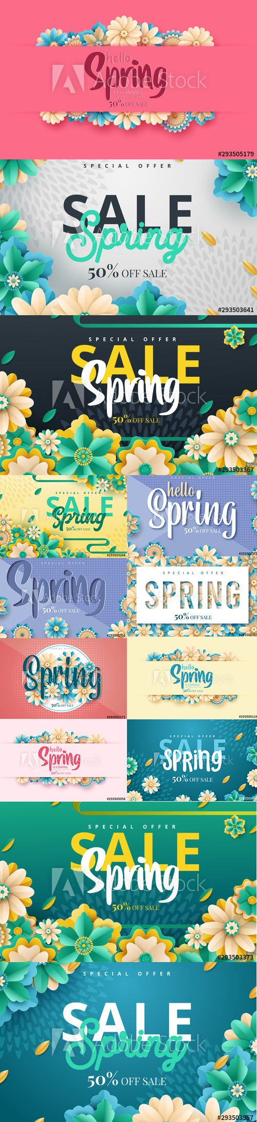 Spring Sale Backgrounds with Flowers vol2