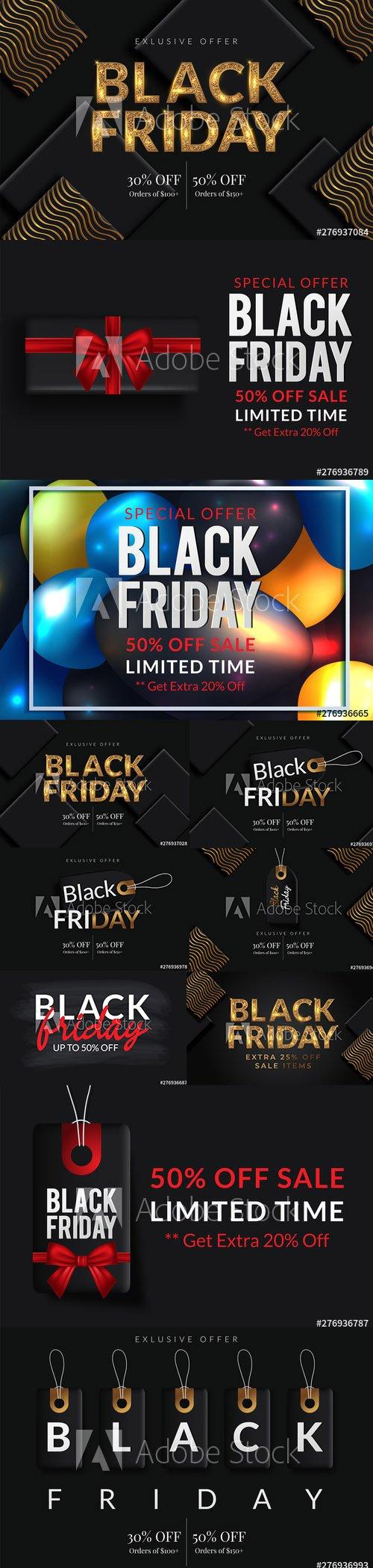 Black Friday Sale Poster Banner Illustration vol3