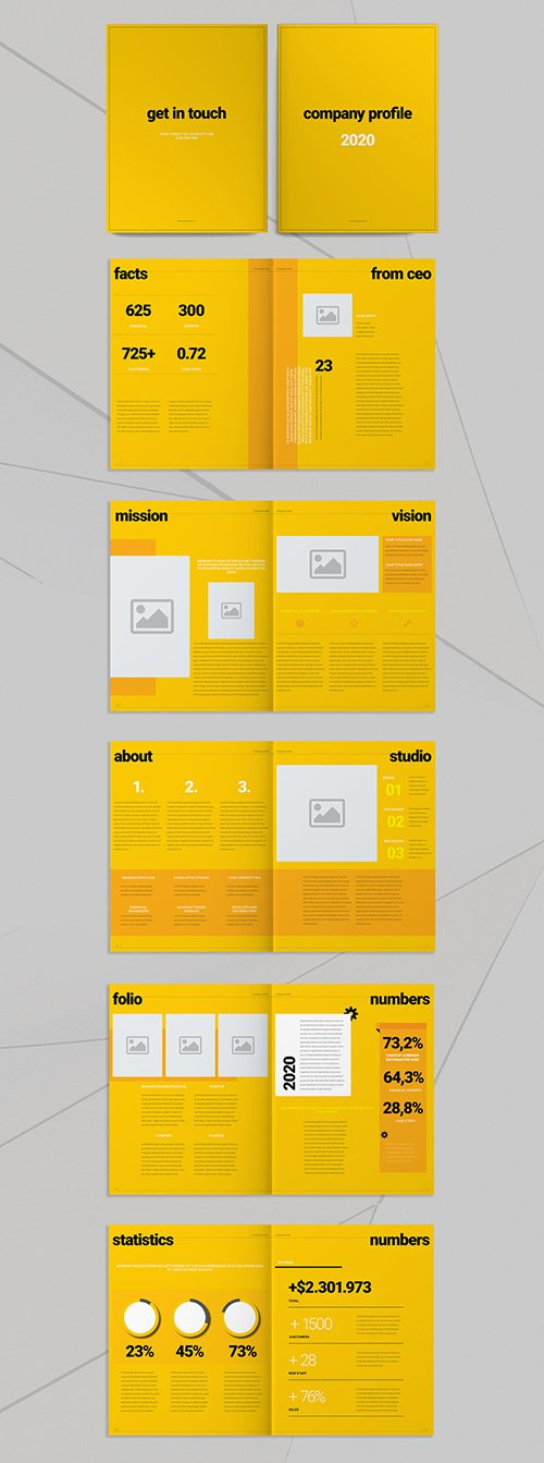 Yellow Brochure Layout 293433658 INDT