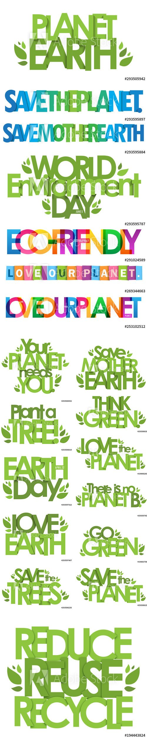 Green and Colorful Rainbow Typography Poster Illustration