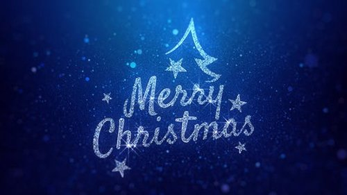 Merry Christmas Wishes Blue Background 22881934
