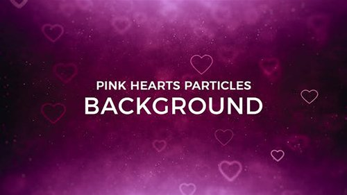 Hearts Particles Background 21370395
