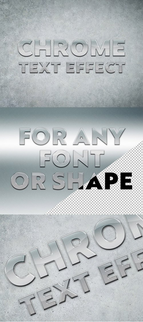Chrome Text Effect Mockup 282505151 PSDT