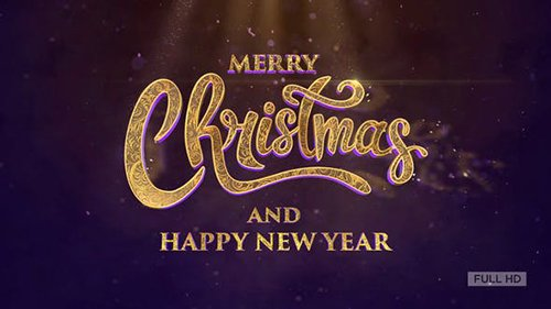 Merry Christmas Text Animation (Golden Sand) 22948883