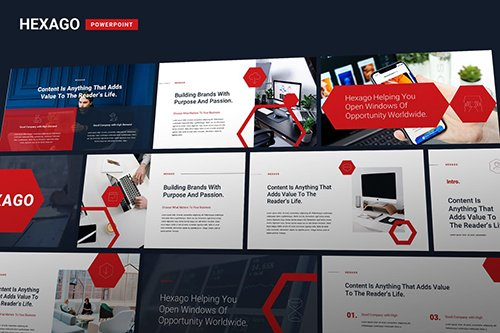 Hexago - Multipurpose Business Powerpoint and Google Slides Template