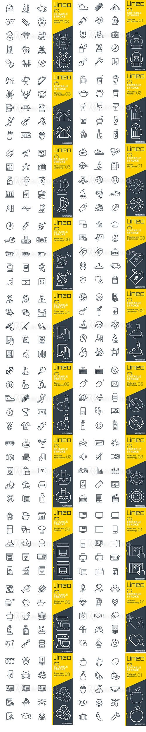 Outline Icons Pack Lineo Vol4