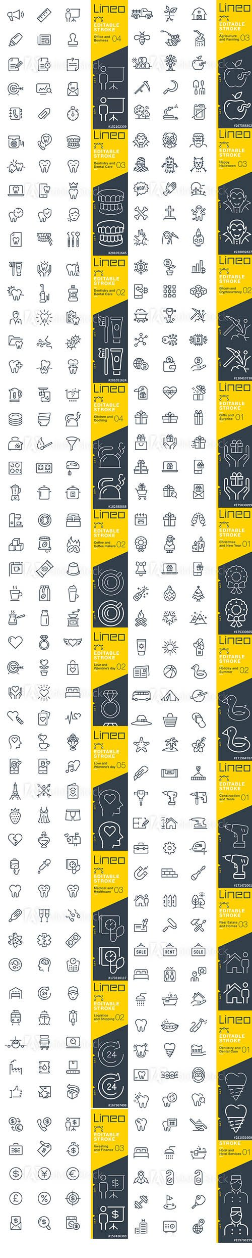 Outline Icons Pack Lineo