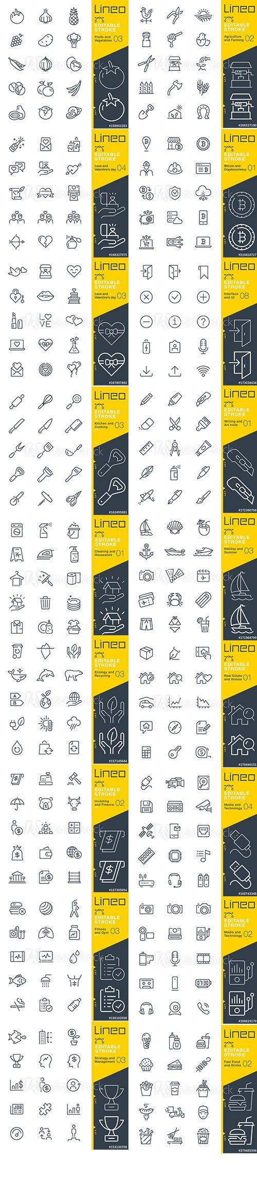 Outline Icons Pack Lineo Vol2