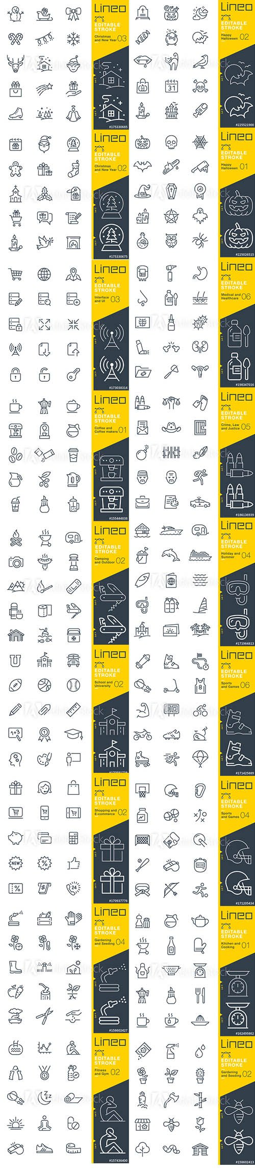 Outline Icons Pack Lineo Vol3