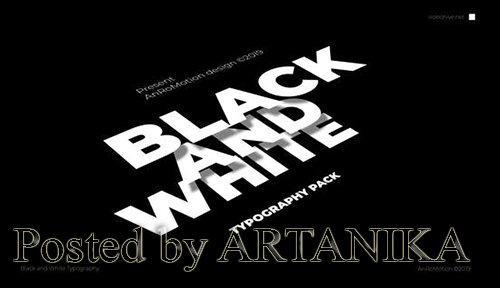 Black And White - Titles And Typography 23821550