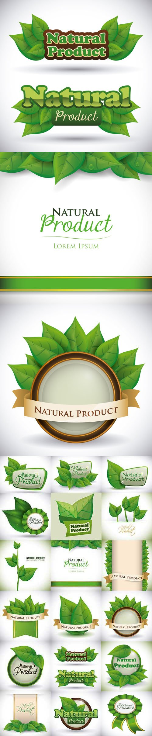 Natural Product Icons in Vector