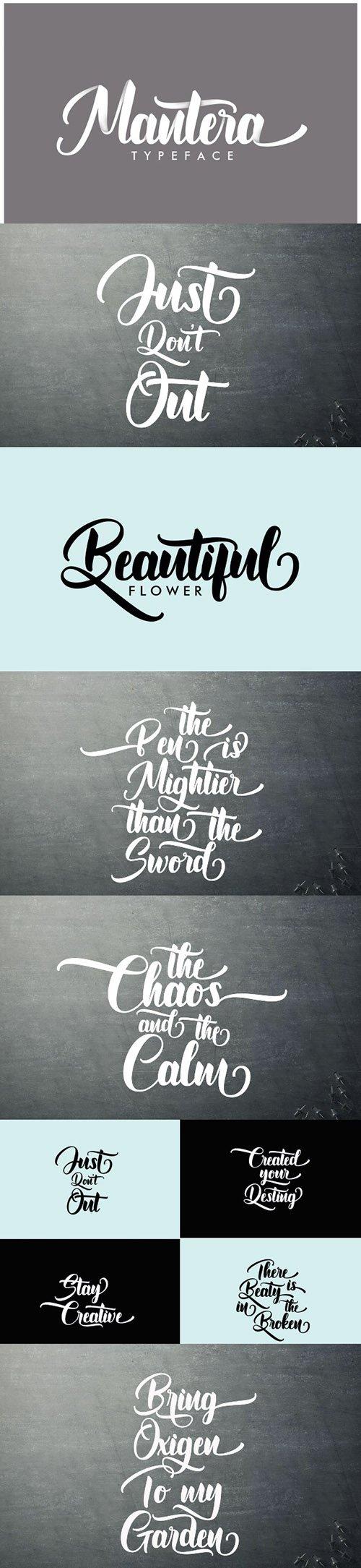 Mantera Script Font
