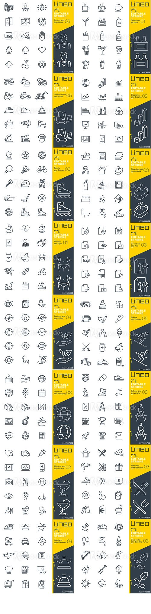 Outline Icons Pack Lineo Vol9