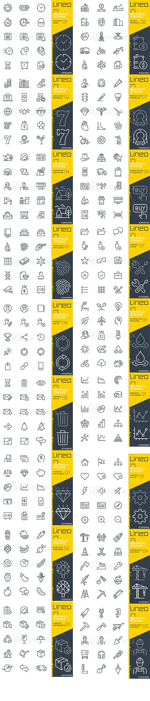 Outline Icons Pack Lineo Vol8