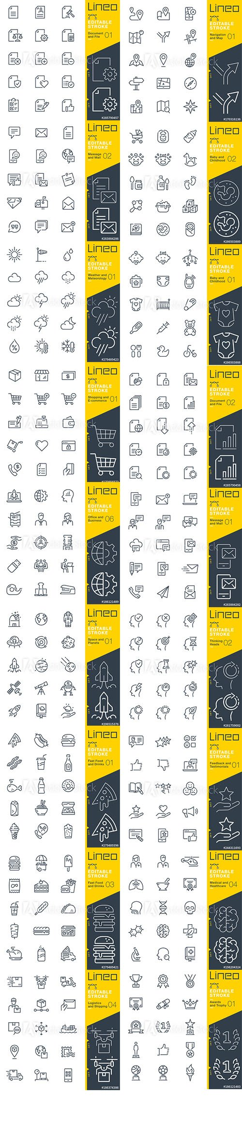 Outline Icons Pack Lineo Vol6
