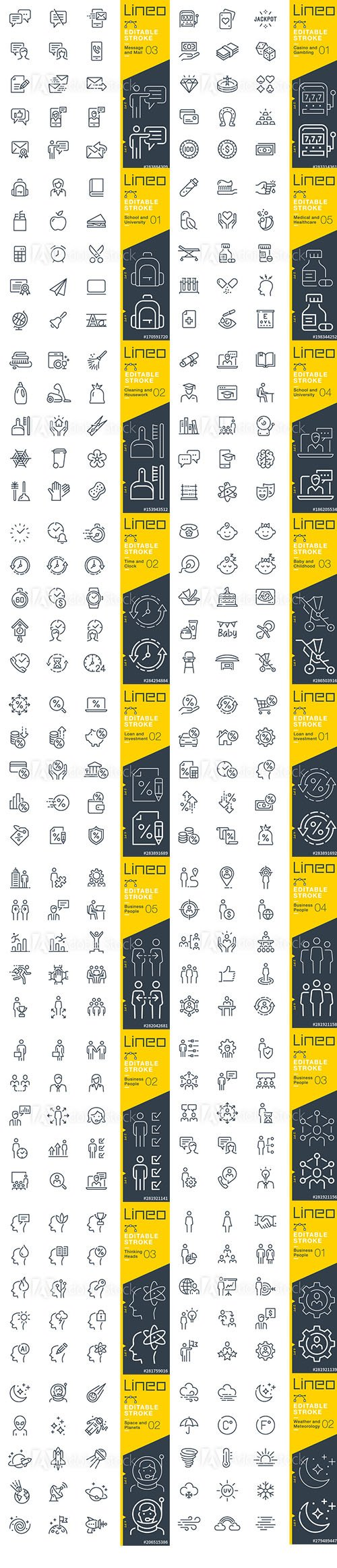 Outline Icons Pack Lineo Vol7