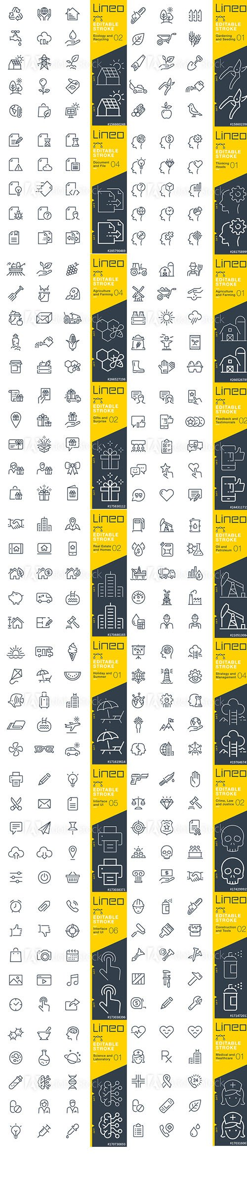 Outline Icons Pack Lineo Vol5