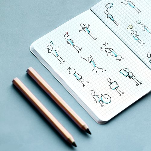 Hand drawn character elements set on a notebook illustration 1200013 PSD